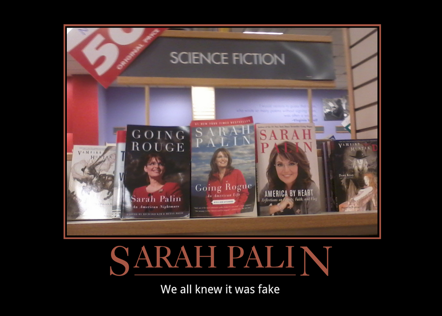 Sarah Palin, the lie by fatwolf012