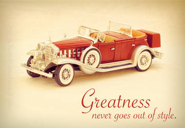 Greatness Never Goes Out of Style