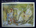 Decoupage elf and fairy by lamu1976