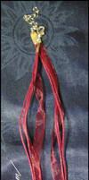 Murano glass heart necklace by lamu1976