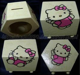 Piggy bank Hello Kitty by lamu1976