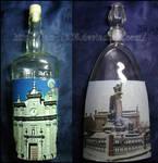 Bottle's decoupage by lamu1976