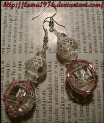 Orecchini pietre e perline by lamu1976