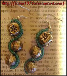 orecchini pietre e perline blu by lamu1976