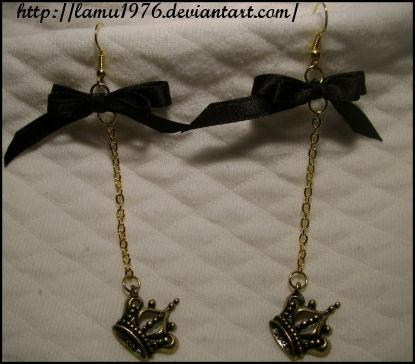 Orecchini corona ribbon by lamu1976