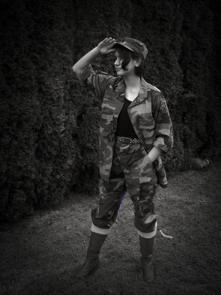 Army girl by 66vampire