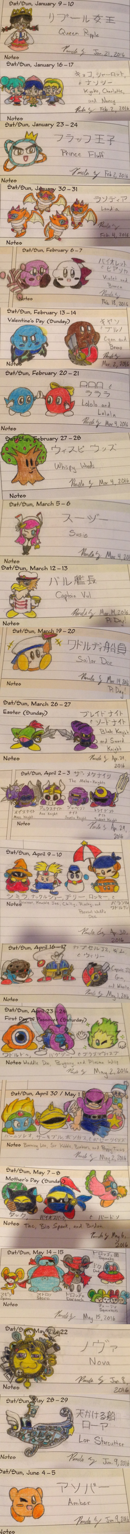Weekly Kirby Doodles, Part 2 by Pokemario6456