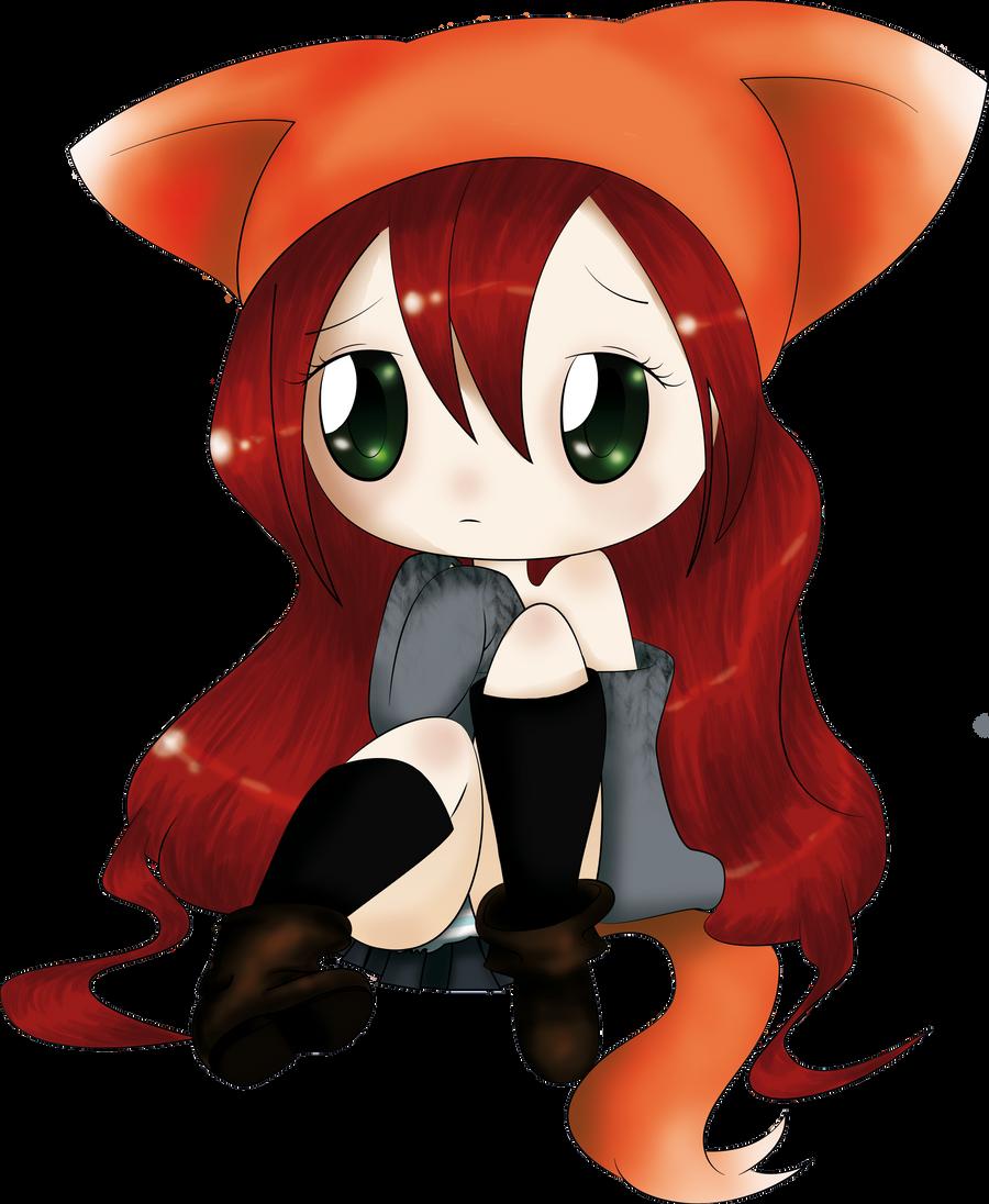 Fox Girl Drawing Chibi Fox Girl by Dorm...