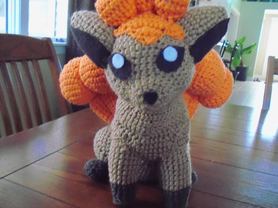 PKM:  Vulpix Crochet Plush by secret-spy-guy