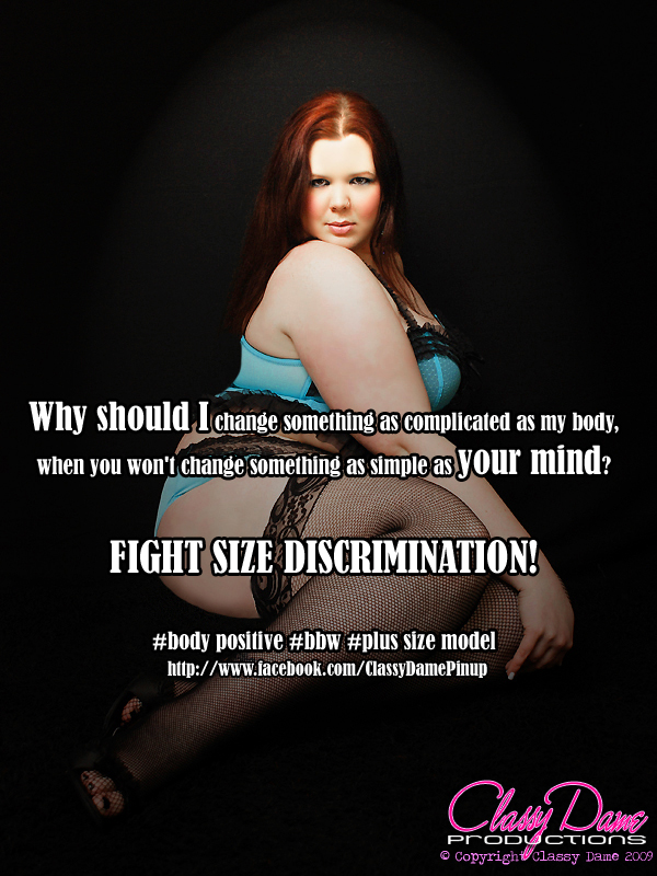 End Size Discrimination! by ClassyDamePinup