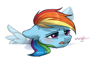 Tired Dashie by Trickate
