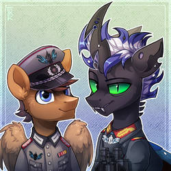 A Changeling General and Aide-de-camp by Trickate