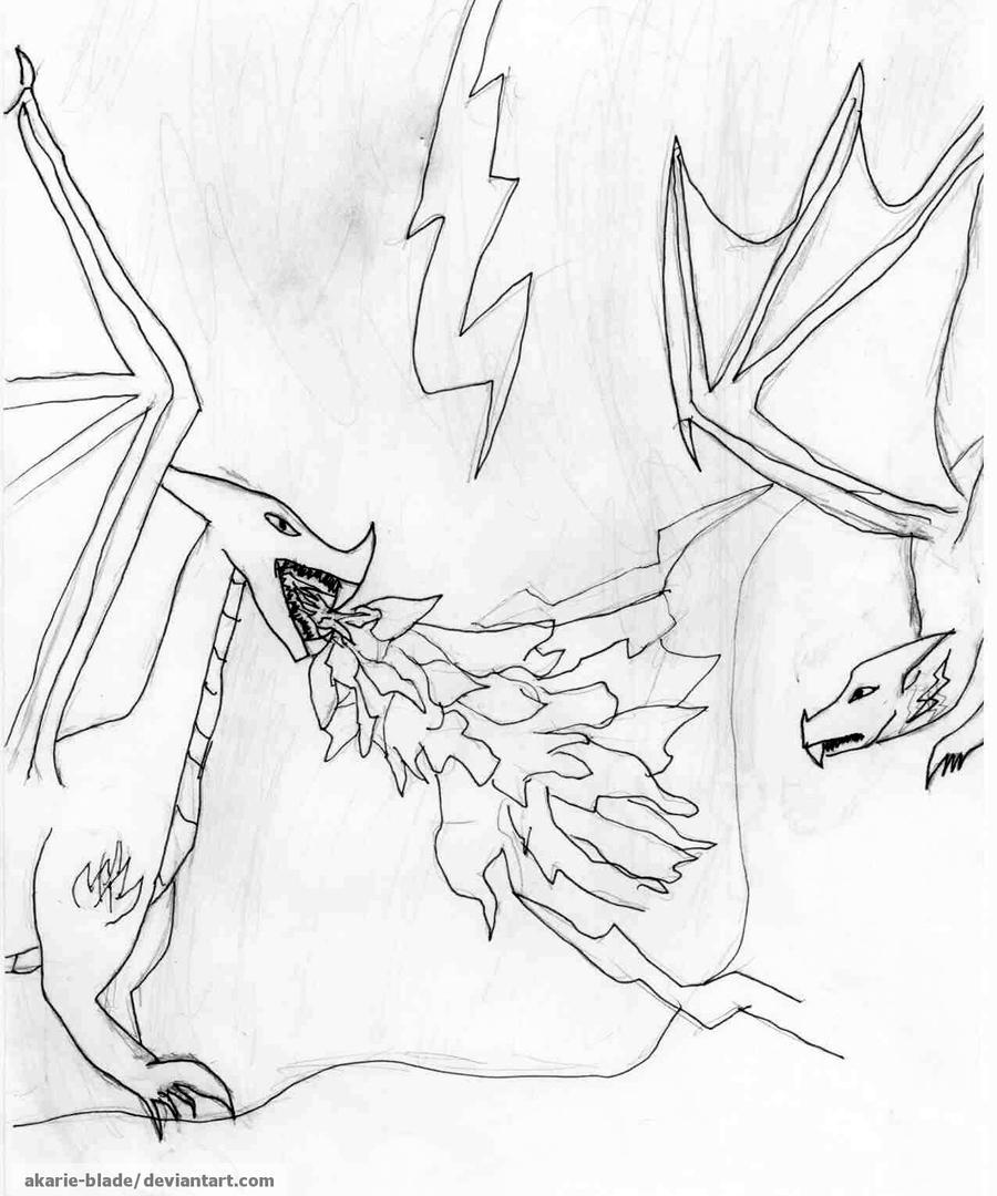 evil dragon vs. good dragon by Akarie-Blade on DeviantArt