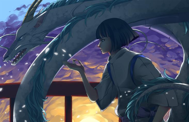 spirited away do chihiro and haku meet again