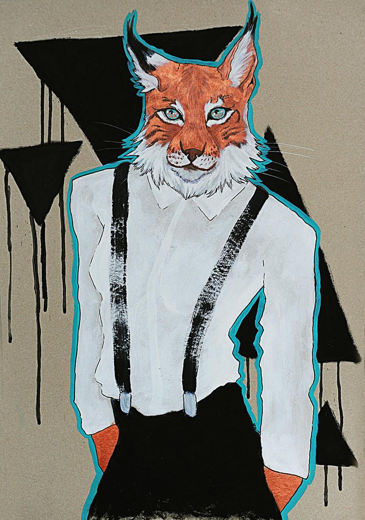 Anthropomorphism: Lynx by kiusa