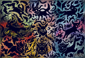 Eevee ( Line evolution 2) by edgar-daffy