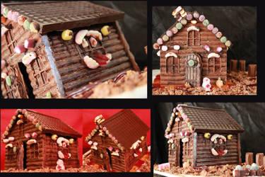 chocolate halloween house