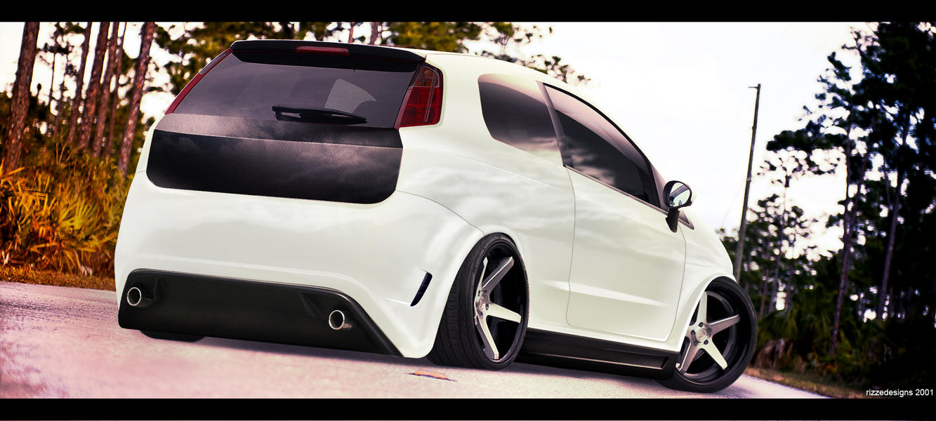 fiat punto tuning by rizzed on deviantart. Black Bedroom Furniture Sets. Home Design Ideas