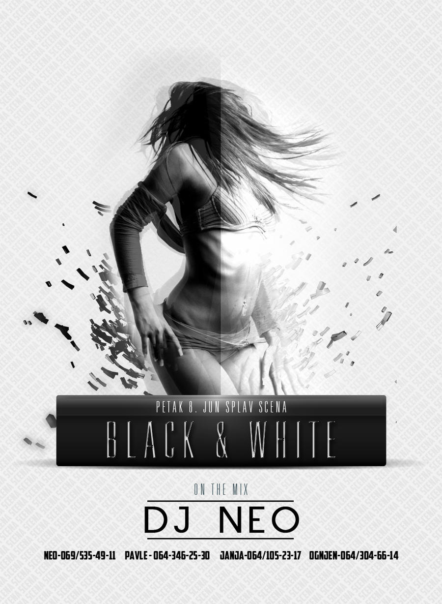 black and white party flyer design by rizzed on deviantart