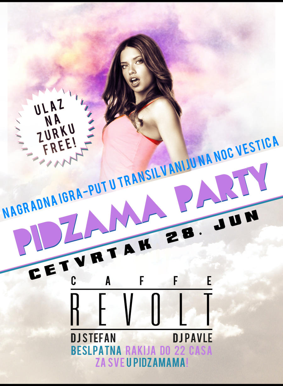 Pijama PARTY - flyer design by RizzeD on DeviantArt