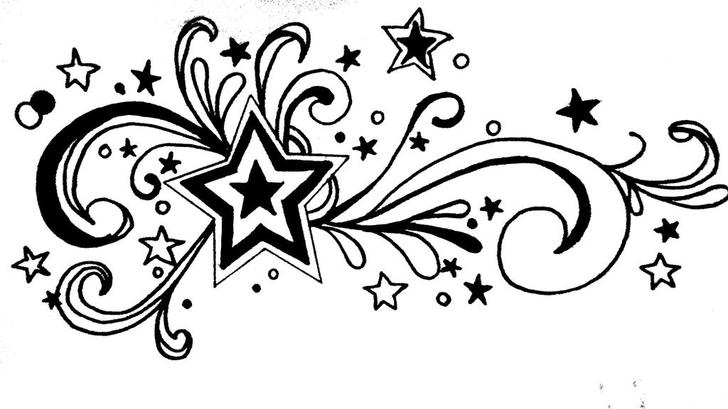 Stars and swirls by aamnanaeem on deviantart for Swirl tattoo designs