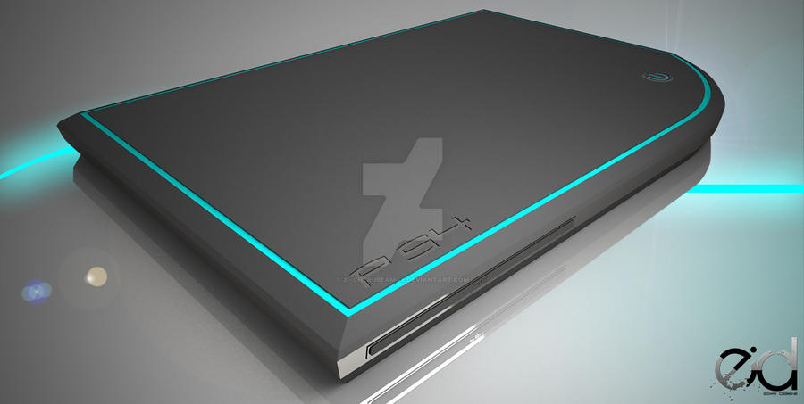 Play Station Four Concept (PS4) by x--Cherubeam--x