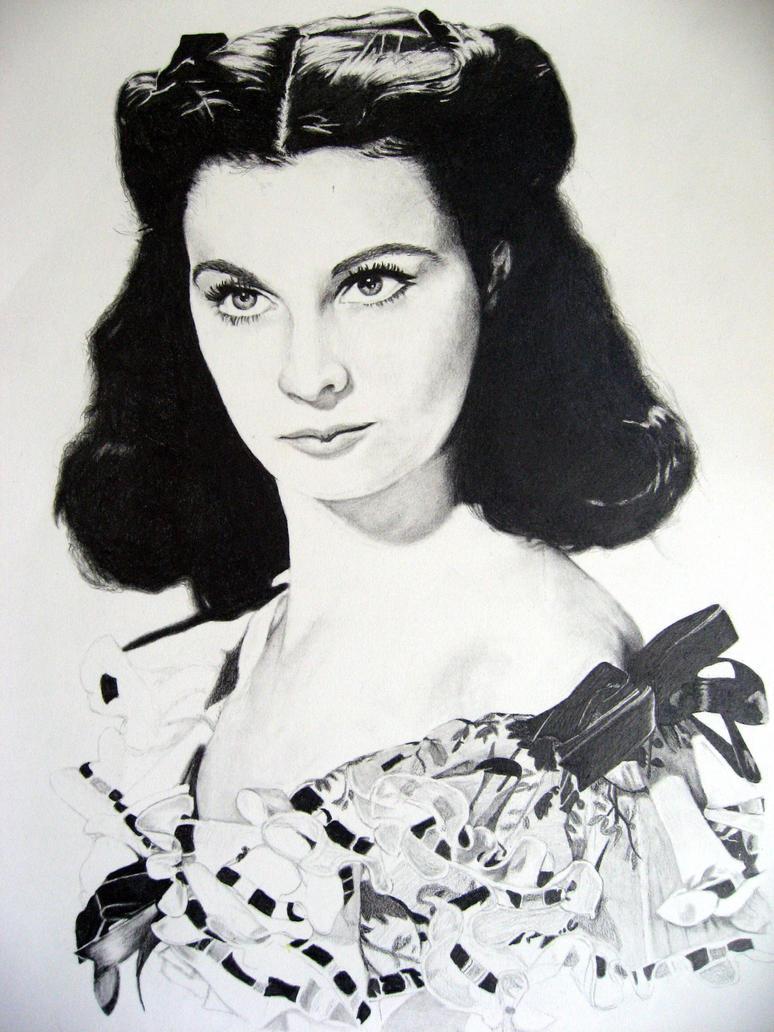 Vivian Leigh portrait by tootallsara