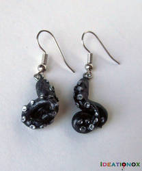 Tentacle Earrings by Ideationox