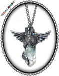 Dragon on Crystal Necklace