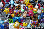 Geeky Gamer Lot of handsculpted necklaces!