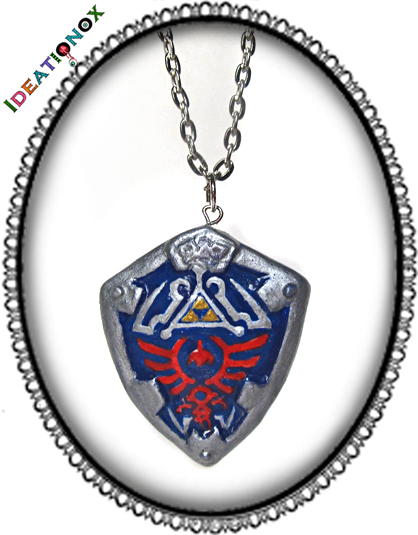 Hylian Shield Necklace by Ideationox