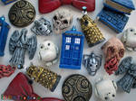 Doctor Who inspired clay charms!