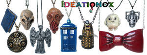 Doctor Who inspired clay necklace collection!