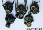 Polymer Gas Mask Necklaces