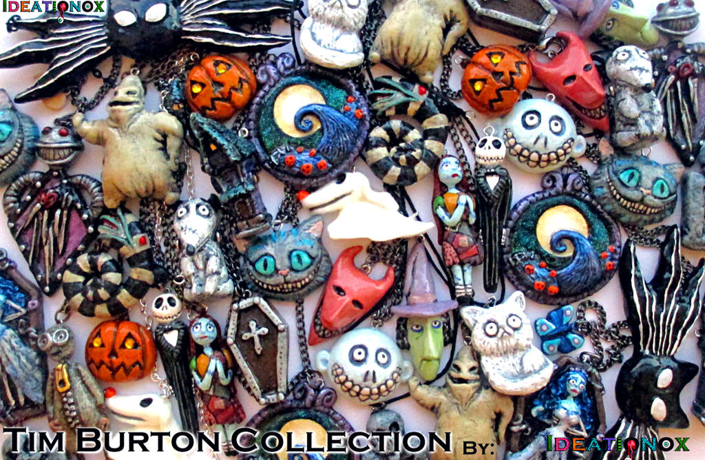 A Cluster of Tim Burton Charms by Ideationox