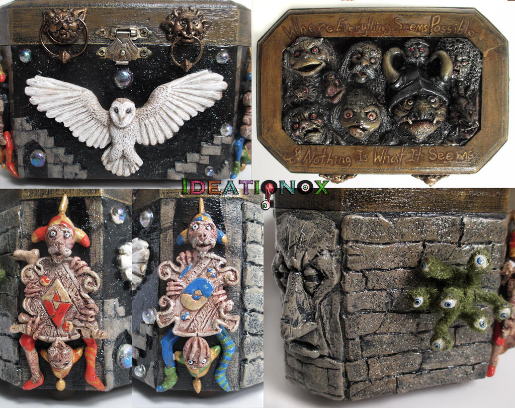 Labyrinth inspired decorative Memory Box by Ideationox