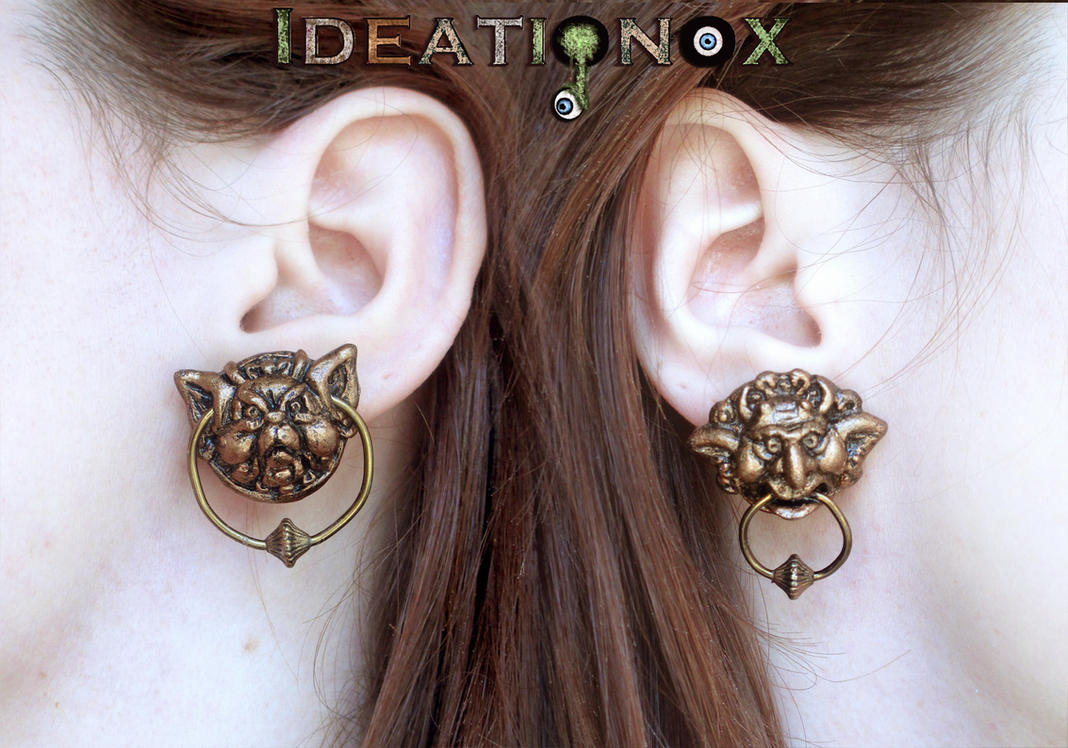 Labyrinth Door Knocker Earrings! by Ideationox