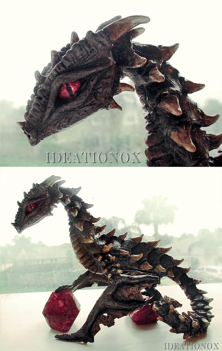 Almandine Dragon Statue by Ideationox