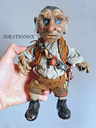 Hoggle One of a Kind Poseable Art Doll by Ideationox