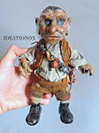 Hoggle One of a Kind Poseable Art Doll