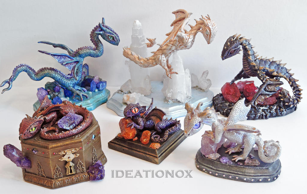 My Dragon Sculptures by Ideationox