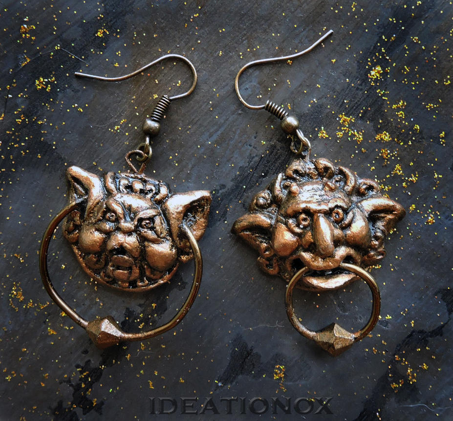 Labyrinth Door Knocker Earrings! by Ideationox ... & Labyrinth Door Knocker Earrings! by Ideationox on DeviantArt