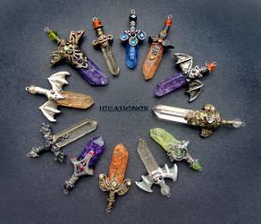 Halloween Edition Crystal Sword Charms