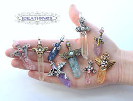 Handful of Crystal Swords by Ideationox