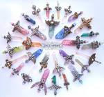 Crystal Sword Charms - Ideationox