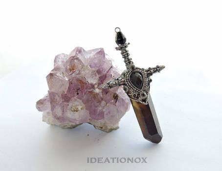 Ideationox Crystal Sword Charm Dark Elven Knight