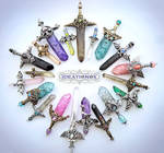 January Crystal Sword Charms - Ideationox