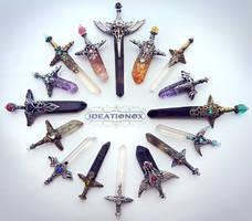 February Crystal Sword Charms - IDEATIONOX