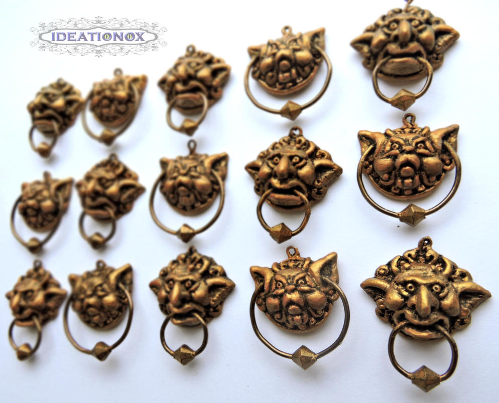 Labyrinth Door Knocker Earrings by Ideationox