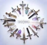 April Crystal Sword Charms - Ideationox